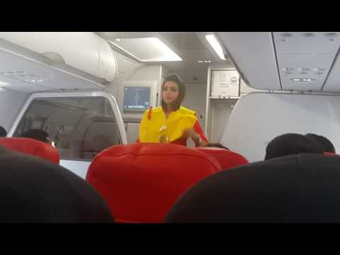 AirAsia India's First Flight Safety Demonstration