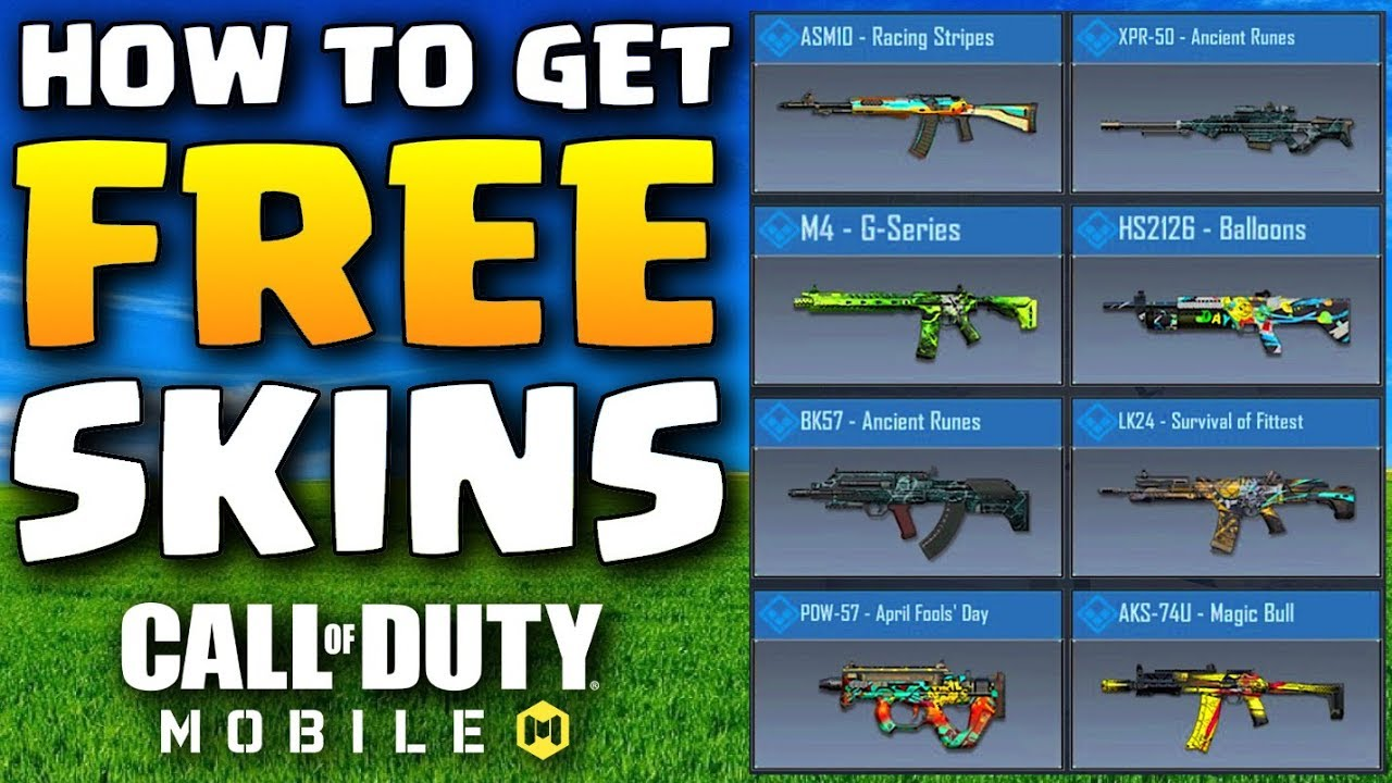 How To Get Free Skins In Call Of Duty Mobile Youtube