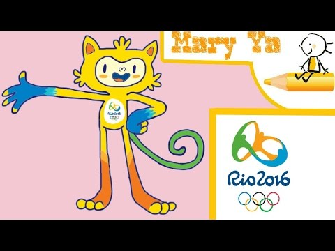 Как нарисовать талисман Олимпийских игр в Рио. Рисование для новичков.