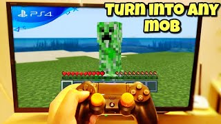 Minecraft PS4 Bedrock Edition Turn Into Any MOB! | minecraft ps4 bedrock block commands