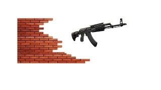 Из АКМ по кирпичной стене...