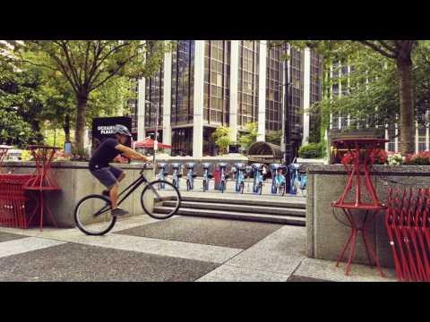 Trials biking in Vancouver