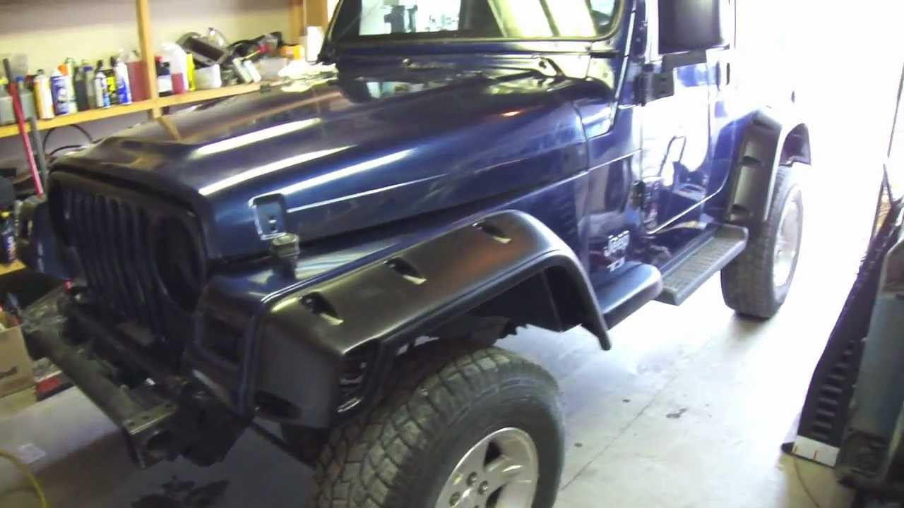 hight resolution of installing jeep flares and wheel spacers
