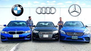 2019 BMW 3 Series vs Audi A4 vs Mercedes C-Class // Battle Of Kings