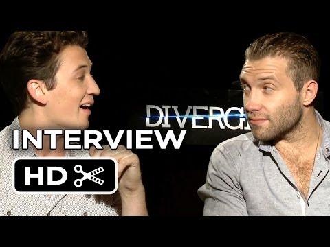 Divergent Interview - Miles Teller & Jai Courtney (2014) - Sci-Fi Movie HD