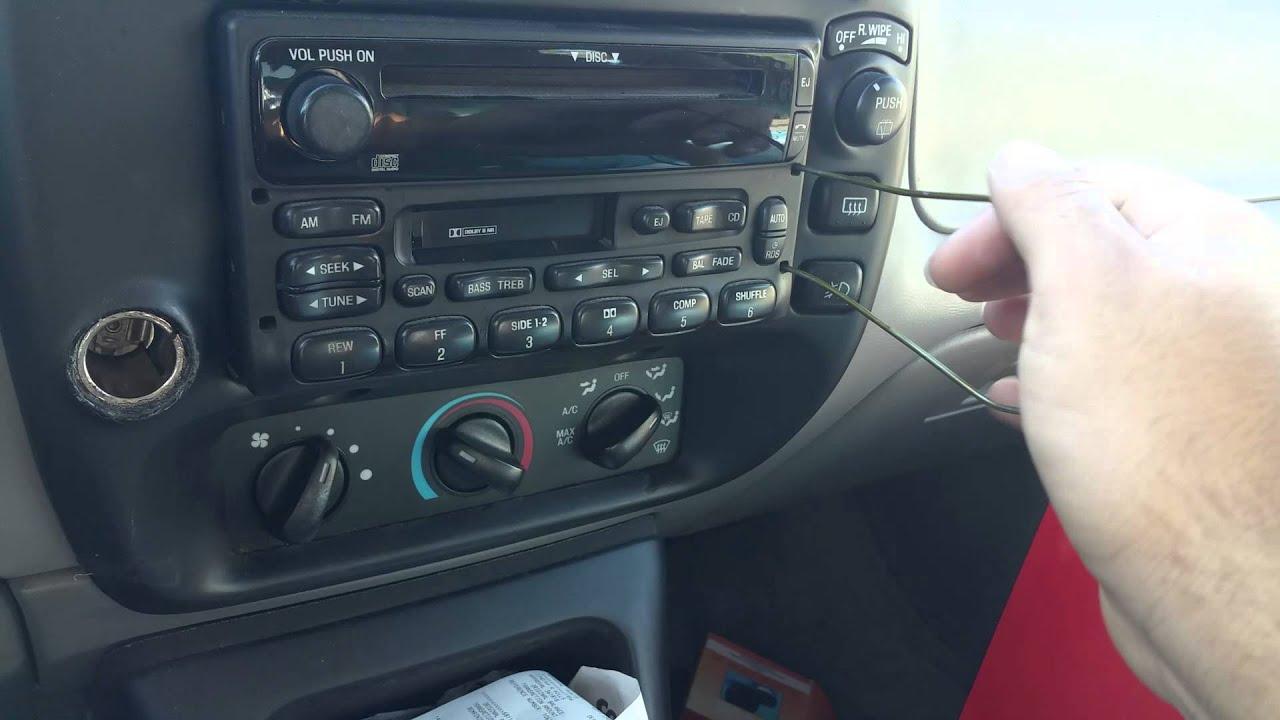 medium resolution of 1995 2000 ford explorer new radio install