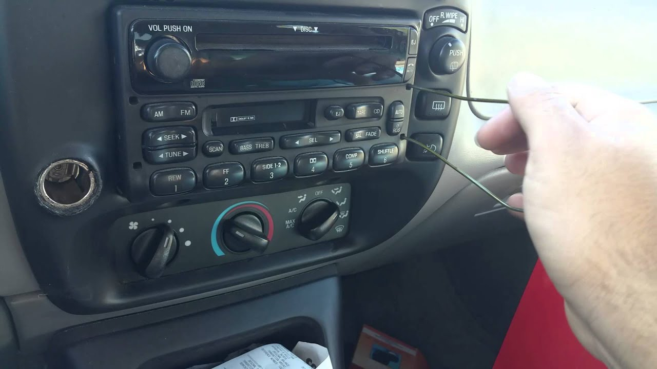 hight resolution of 1995 2000 ford explorer new radio install