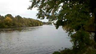 Tug boat and barge on the Ouachita River