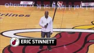 Download Eric Stinnett sings the National Anthem at the Miami Heat Game MP3 song and Music Video