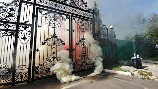 Верховный суд Украины в дыму после акции в поддержку Стерненко. PavlovskyNEWS