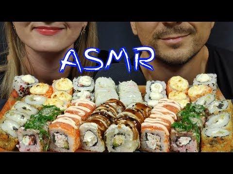 АСМР САМЫЕ ВКУСНЫЕ РОЛЛЫ СУШИ  МУКБАНГ | ASMR THE TASTIEST SUSHI ROLLS MUKBANG  | 먹방