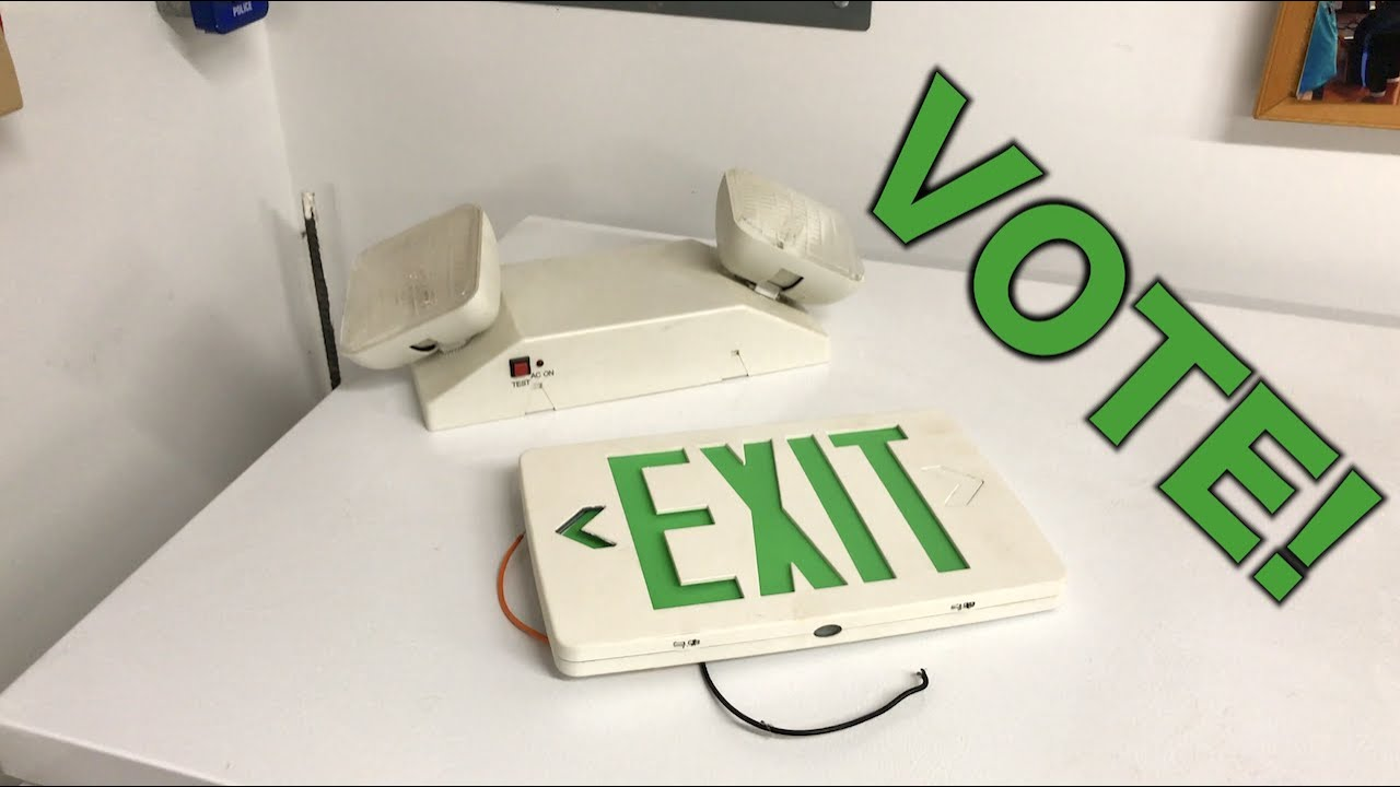 S.E.R. Exit Sign or Emergency Light Vote