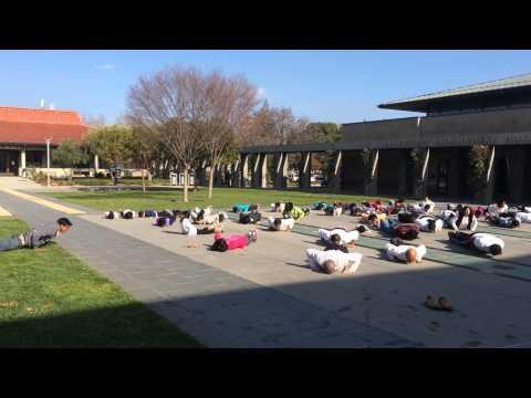 Surya Namaskar Sun Salutations Yogathon @ Cupertino Library 2015