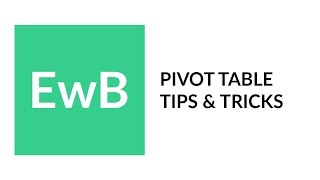 PivotTable Tips and Tricks - with Deb Ashby