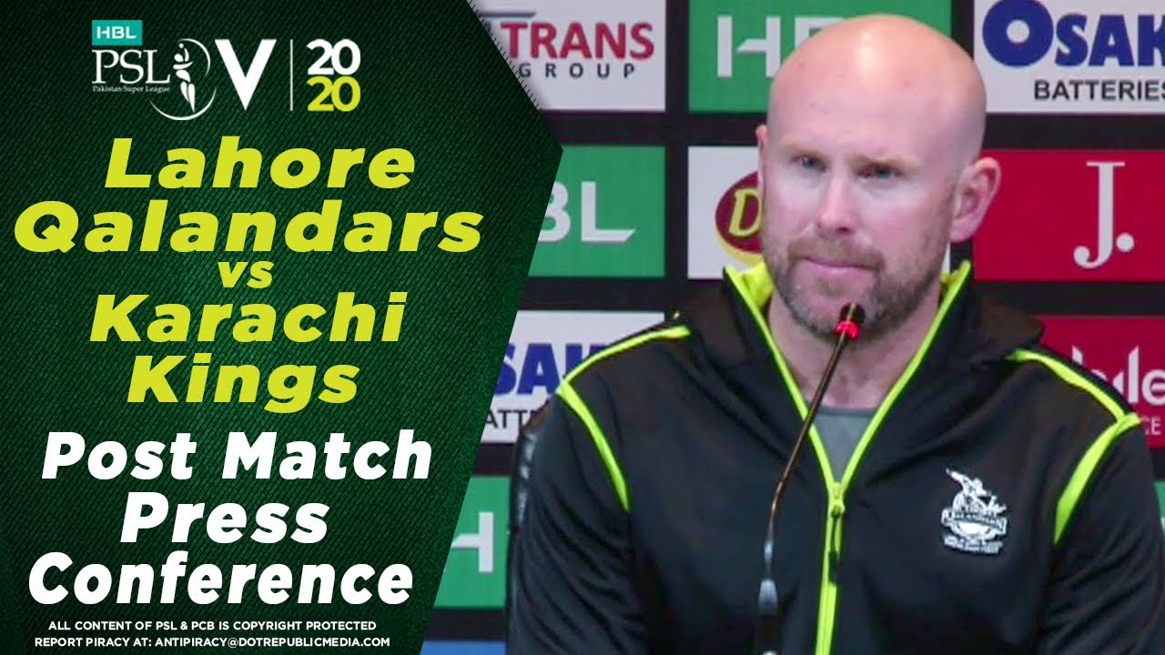 Ben Dunk Post Match Press Conference | Lahore Qalandars vs Karachi Kings | HBL PSL 2020