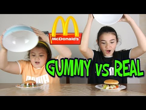 REAL FOOD VS GUMMY FOOD MONALD  edition  cibo reale vs cibo gommoso   by Marghe Giulia Kawaii