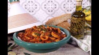 [EN] Calamari Tagine / طاجين الكالاماري - CookingWithAlia - Episode 712