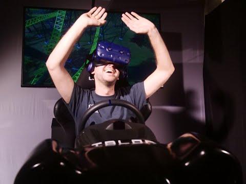 Atomic Arcade - Virtual Reality Motion Simulator for Location Based Entertainment 2018