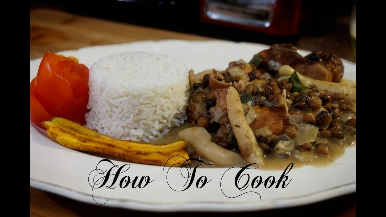 how to cook caribbean jamaican stew gungo peas  rice
