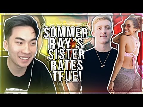 RiceGum Gets Sommer Ray's Sister to Rate Tfue! (She Wants To Smash?)