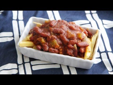 Vegan Chili Cheese Fries Recipe (9.22.12 - Day 41) Vegetarian Junk Food