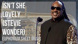 EASY Euphonium Sheet Music: How to play Isn't She Lovely by Stevie Wonder