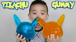 Making A Giant Pikachu Gummy Candy Sweets With CKN Toys Pokemon Go Candy thumbnail