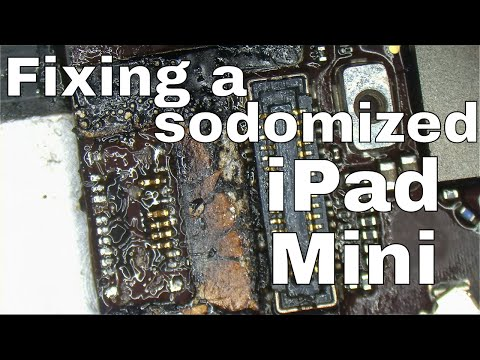 iPad mini destroyed FPC digitizer connector repair for data recovery
