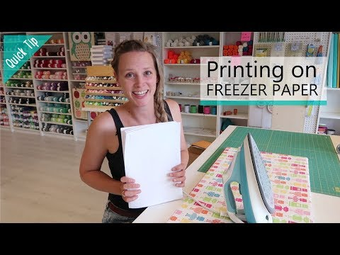 How to print on freezer paper with a lazer printer | Quick Tip