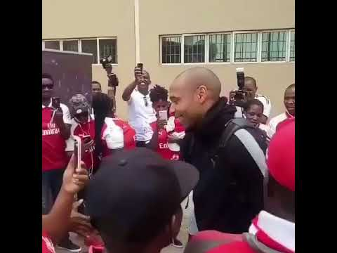 How Arsenal fan club in Nigeria welcomed Thierry Henry