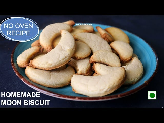 Hyderabadi Chand Biscuits Recipe - Made in Cooker | Eggless Baking | Without Oven | Moon Biscuit
