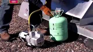 Refrigeration evacuation procedures