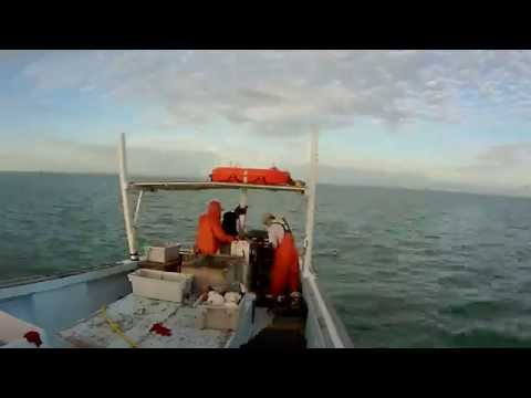Florida Sunrise and Lobster fishing time lapse