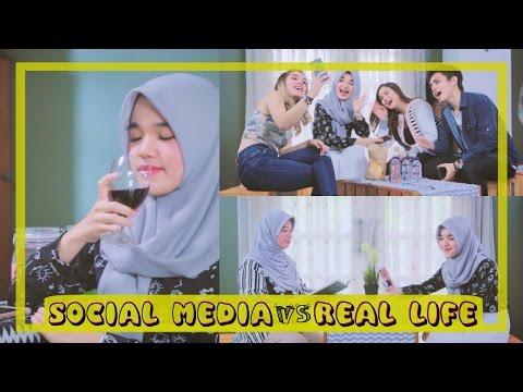 SOCIAL MEDIA VS REAL LIFE JAMAN SEKARANG ft. Lula Lahfah, Caca Zeta, Anthony Yaputra & Mamuy!😎