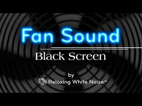 Fan Sound Black Screen | Fall Asleep and Remain Sleeping | Dark Screen White Noise 10 Hours