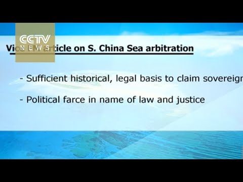 South China Sea: China's refusal to accept arbitration conforms to international law
