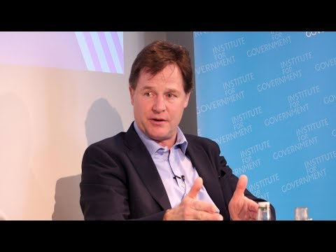In conversation with Nick Clegg