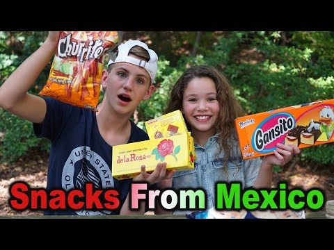 Trying Snacks from Mexico! (MattyBRaps & Sierra Haschak)