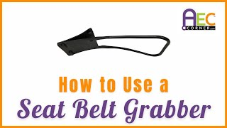 Learn How to Put On a Seat Belt Using the Seat Belt Grabber Handle