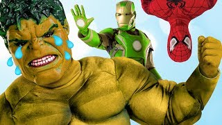 Wrong Color Hulk Video 😡 Hulk toys for kids learn colours Superheroes IRL rare toys CHANGE COLOR!