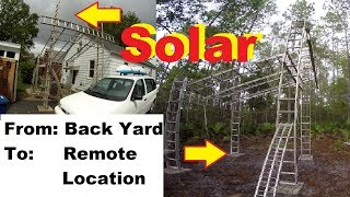 STEP by STEP Build SOLAR PAVILION + solar ARRAY  HOMEMADE Video # 1 of 3
