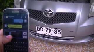 GPS Tracker 103 Toyota Yaris Chile a traves de celular