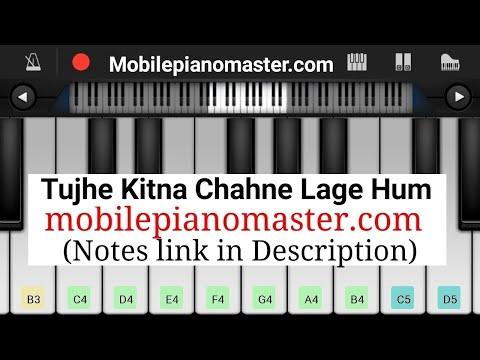 tujhe-kitna-chahne-lage-hum-piano arijit-singh notes kabir-singh latest-song piano-music mobile