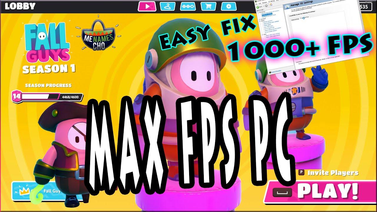 FALL GUYS 😀 Max FPS 😀 Easy Tutorial