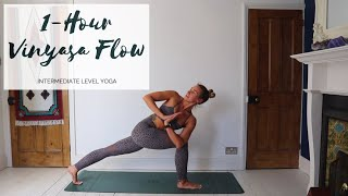 1 HOUR YOGA   Intermediate Vinyasa Flow Yoga   CAT MEFFAN