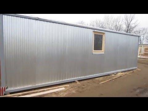 Блок-контейнер 8 метров с тамбуром и отделкой ДВП