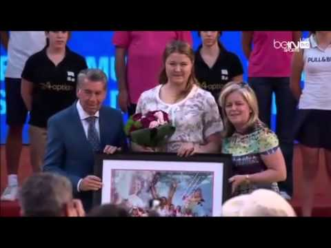 Sharapova-Halep Dinara Safina's farewell ceremony Mutua Madrid Open 2014