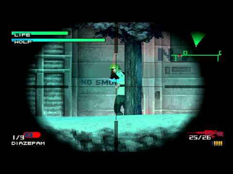 Metal Gear Solid - Sniper Wolf boss Level