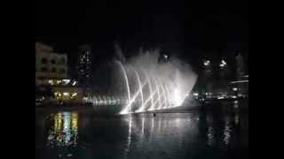 Поющий фонтан в Дубае! Под У.Хьюстон!