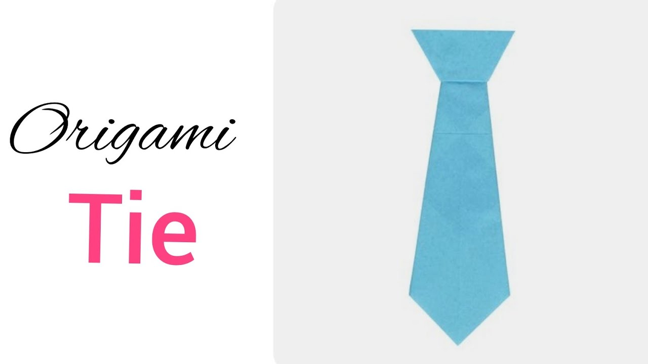 How to make a Paper Neck Tie - Origami Tie making Tutorial - YouTube | 720x1280
